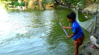 Amazing Boy Catching Big Catfish By Hook - Fishing By Hook (Part-460)