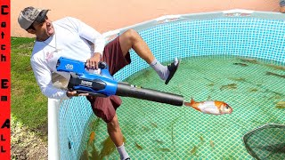 FISH ROCKET LAUNCHER! **DIY w/ LEAF BLOWER -Safe for Fish**