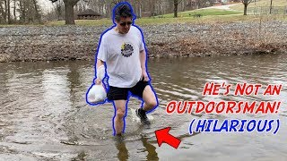 How to NOT be an OUTDOORSMAN!!! (ft. My CLUMSY & HILARIOUS Dad)