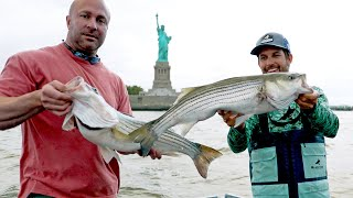 Statue of Liberty Striped Bass Fishing