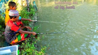 Best of hook fishing - Traditional catching fish by hook - Fishing rod (Part-480)
