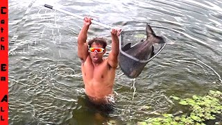 SWIMMING for GIANT PIRANHA! **Almost Drowned in Florida**